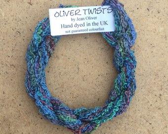 Silk Boucle No.57 Oil Slick, Hand Dyed Embroidery Thread, Artisan Thread, Textile Art