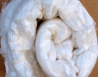 Silk Laps (No.2) Mulberry Silk, Silk Sheet, Carded Laps, Feltmaking, Spinning, Needlefelting, Silk Fusion, Dyeing