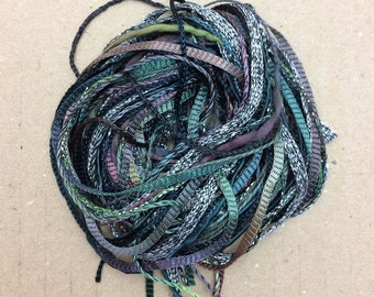 Tidbits, Charcoal, Hand Dyed Embroidery Threads, Creative Embrodery
