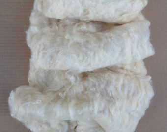 Tussah Silk Laps,  Silk Laps, Combed Silk Laps, Carded Silk Laps, Feltmaking Supply, Spinning Supply, Dyeing