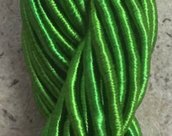 Viscose Gimp Thread,  Hand Dyed Gimp, Viscose Gimp, Grass Green, 10 metres,
