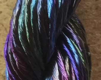 Thick Rayon Floss, Viscose Floss, 9 Strand Viscose Floss, Embroidery Thread, Braidmaking, Kumihimo, Colour No.57 Oil Slick