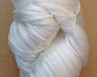 Viscose Chainette 10/167, Yarn for Dyeing, Rayon Yarn, Knitting Yarn, Weaving, Crochet, Natural, Undyed