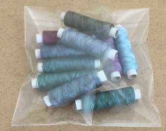 HALF PRICE OFFER, Hand Dyed Variegated Machine Cottons, Egyptian Cotton