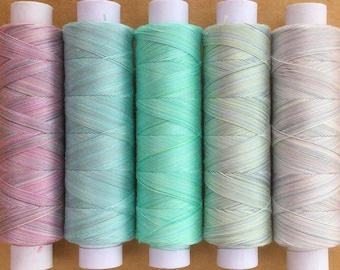 Edinburgh Rock, Hand Dyed Cotton Machine Embroidery Thread, Machine Quilting Thread, Tatting, Crochet, Creative Embroidery/Quilting
