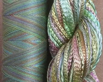 Hand Dyed Embroidery Threads, Two of a Kind, No.39 Pistachio , Embroidery Thread, Quilting Thread, Textile Art, Embellishment Yarn