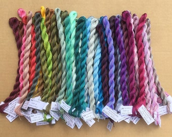 10% Discount, FINE COTTON, Complete set of 52 colours, Hand Dyed Embroidery Thread,  Embroidery Floss, 16/2 wt. (Equivalent to Perle 12)