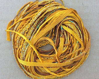 Tidbits, Gold, Hand Dyed Embroidery Threads, Creative Embrodery