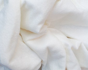 Natural Felt, Undyed Wool and Viscose Felt, 70/30% Wool/Viscose Felt, Craft Supply, Embellishing Supply