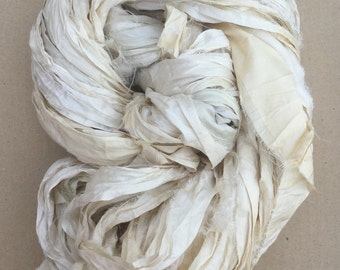 Sari Ribbon, Silk Ribbon, Undyed Sari Ribbon, Wide Silk Ribbon