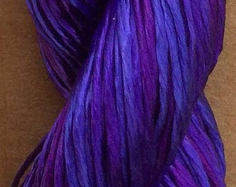 Hand Dyed Embroidery Thread, Viscose Floss, 4 Strand Viscose Floss, Embroidery Thread, Braidmaking, Colour Violet