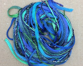 Tidbits, Mediterranean, Hand Dyed Embroidery Threads, Creative Embrodery