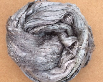 Hand Dyed Grade A1 Mulberry Silk Brick, Mulberry Silk Tops, Silk Roving, Luxury Spinning Fibr Spinning, Feltmaking No.56, Pebble