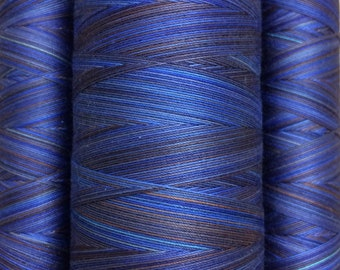 Multicoloured, Hand Dyed Cotton Machine Quilting or Embroidery Thread, Eygyptian Cotton 40wt., 150m (162yds) or 750m (820yds) Ref.SM10