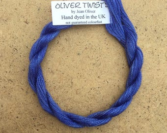 Silk 30/2 No.81 Bluebell, Embroidery Thread, Hand Dyed Embroidery Thread, Artisan Thread, Textile Art