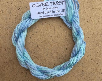 Silk Filament No.38 Hydrangea, Embroidery Thread, Hand Dyed Embroidery Thread, Artisan Thread, Textile Art
