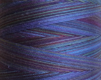Hand Dyed Cotton Machine Quilting Thread, Machine Embroidery Thread,  Eygyptian Cotton 40 weight, 750m (820yds) Colour No.57 Oil Slick