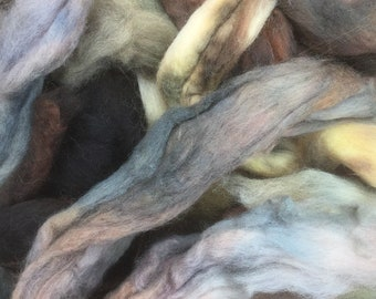 SPECIAL OFFER, Hand Dyed Blue Faced Leicester Wool Roving, Luxury Spinning fibre, British Wool Tops, Feltmaking, Spinning Supply, 50g