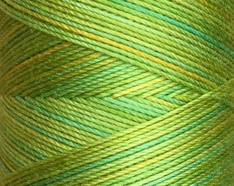No.50 Lime and Lemon, Hand Dyed Cotton Machine Thread, Individual Spool 150m, Machine Embroidery, machine Quilting