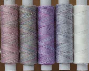 Lilacs, Hand Dyed Cotton Machine Embroidery Thread, Machine Quilting Thread, Tatting, Crochet, Creative Embroidery/Quilting