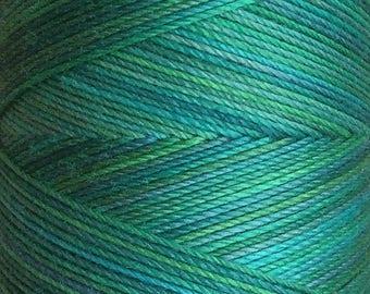 No.20 Jade, Hand Dyed Cotton Machine Thread, Individual Spool 150m, Machine Embroidery, machine Quilting