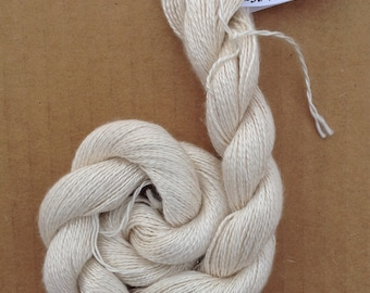 Silk 16/2 weight Yarn, Laceweight Yarn Silk Yarn, Weaving Yarn, Crochet Yarn, Natural, Undyed, Ivory,