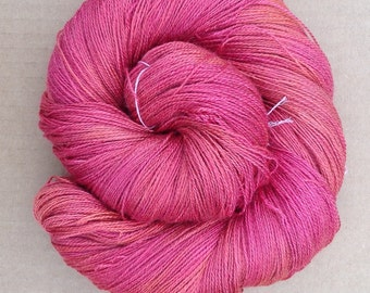 Silk and Baby Camel Yarn 2ply, Knitting, Crochet, Weaving, Colour No.14 - Christmas, Ref.923