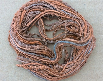 Silk Tidbits, No.21 Rust, Hand Dyed Embroidery Threads, Creative Embrodery