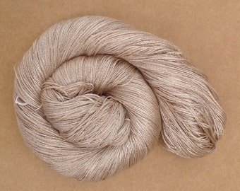 Silk and Baby Camel Yarn, Hand Dyed Knitting Yarn, Laceweight, 2 ply, Weaving, Crochet, Natural, Undyed