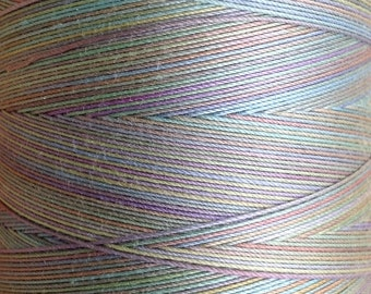 Hand Dyed Cotton Machine Quilting Thread, Machine Embroidery Thread, 750m (820yds) Colour No.39 Pistachio