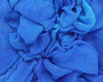 Cotton Scrim, Hand Dyed Gauze, Muslin, Art Cloth for Nuno Felting, Openweave Fabric, Photography Prop, Hand Dyed Scarf