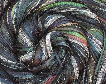 Black, Happy Bag, Mixed Thread Selection, Hand Dyed Cotton Threads, Viscose Threads, Pack colour choices across the spectrum