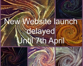 New website launch date 7th April, 10% discount until the end of April