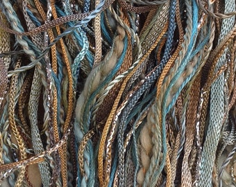 Hand Dyed Embroidery Threads, One Off, No.21 Rust, Hand Dyed Cotton and Viscose Thread Selection