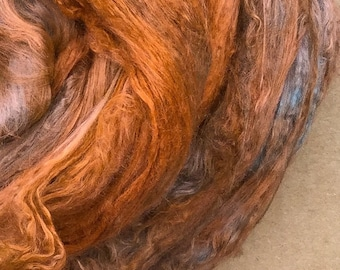Silk Fibres Hand Dyed
