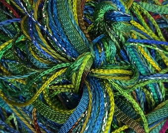 Hand Dyed Embroidery Thread, Mediterranean, One Off Special, Limited Edition, Textured Threads, Variegated Threads