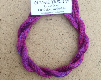 Silk 30/2 No.05 Violet, Embroidery Thread, Hand Dyed Embroidery Thread, Artisan Thread, Textile Art, No.05 Violet