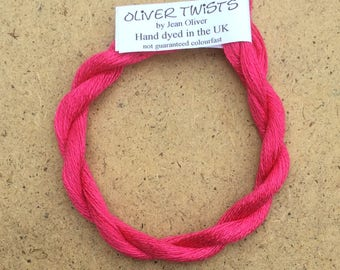 Silk 30/2 Shocking Pink, Embroidery Thread, Hand Dyed Embroidery Thread, Artisan Thread, Textile Art