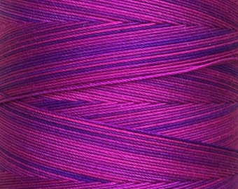Cotton Machine Quilting Thread, Hand Dyed, Machine Embroidery Thread, 750m (820yds) Colour Variegated Cerise