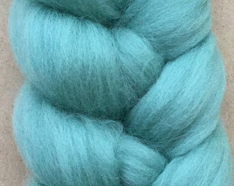 Merino Wool Tops, 70's quality, 21 micron, Wool Roving, Spinning, Feltmaking, Needlefelting, Duck Egg