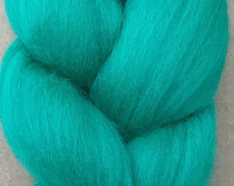 Merino Wool Tops, 70's quality, 21 micron, Wool Roving, Spinning, Feltmaking, Needlefelting, Jade
