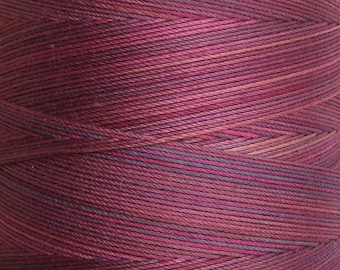 Hand Dyed Cotton Machine Quilting Thread, Machine Embroidery Thread,  Eygyptian Cotton 40 weight, 750m (820yds) Colour No.17 Ruby (0.5%)