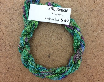 Silk Boucle No.09 Apple, Hand Dyed Embroidery Thread, Artisan Thread, Textile Art