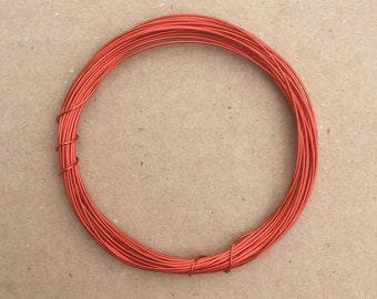 Coloured Copper Wire, Red, 0.5mm, 24 Gauge, 4m (4.3 yards) Metalwork,  Mixed Media, Jewellery making, Turquoise