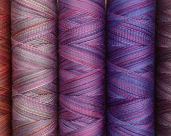 Scottish Heather, Hand Dyed Egyptian Cotton Machine Thread