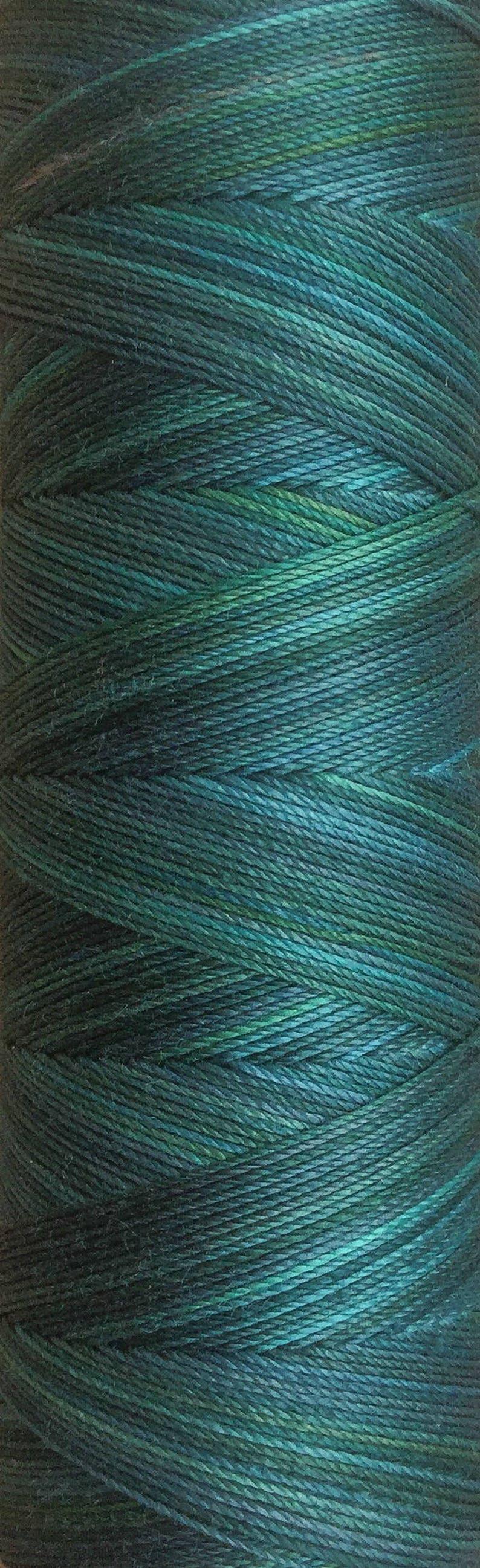 No.06 Petrol Hand Dyed Cotton Machine Thread Individual image 0