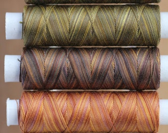 Forest Floor, Hand Dyed Cotton Machine Embroidery Thread,  Machine Quilting Thread, Tatting, Crochet, Creative Embroidery/Quilting