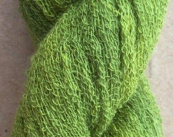 Scrim Twist, Hand Dyed Cotton Scrim, Nuno Felting, Mixed Media, Creative Embroidery, Embellishments, Colour No. 82 Chartreuse
