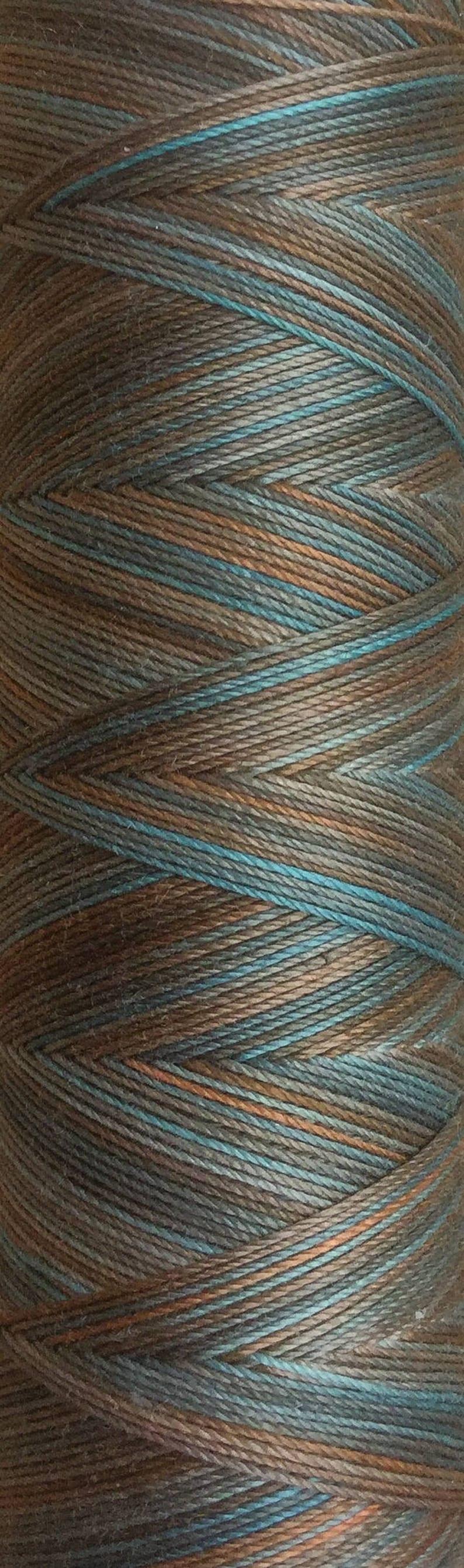 No.21 Rust Hand Dyed Cotton Machine Thread Individual Spool image 0