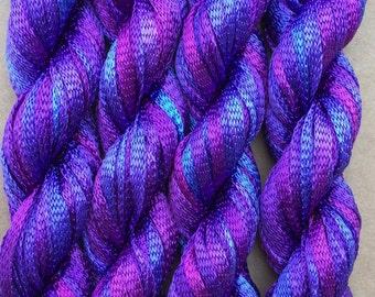 Hand Dyed Viscose Ribbon, 10/167 Viscose Ribbon, Rayon Ribbon, Embroidery, Thread, Canvaswork, Needlepoint, Colour No.05 Violet